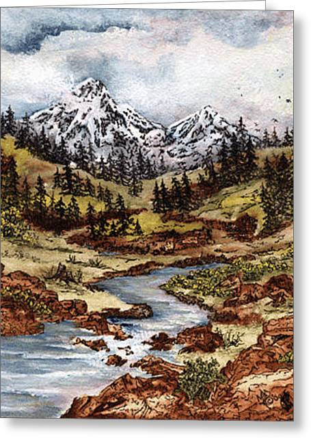 Tranquility Greeting Card by Meldra Driscoll