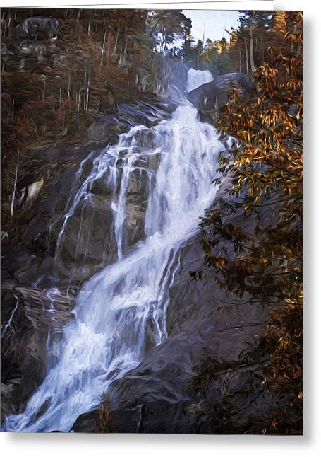 Tranquility Of Creation - Waterfall Art Greeting Card