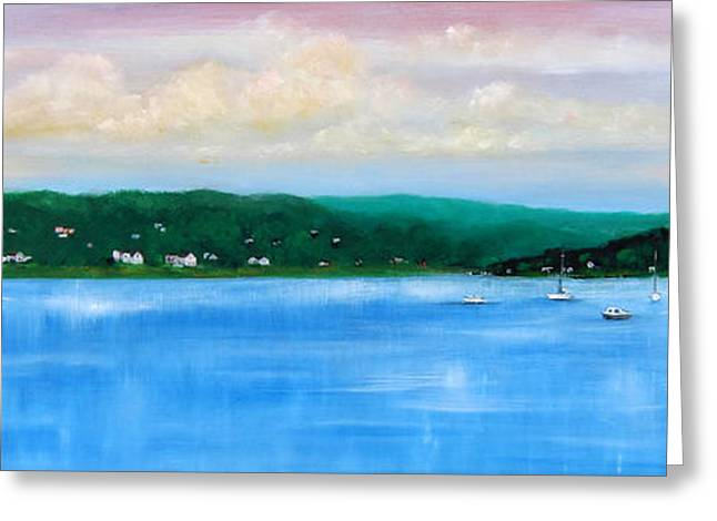 Tranquility On The Navesink River Greeting Card