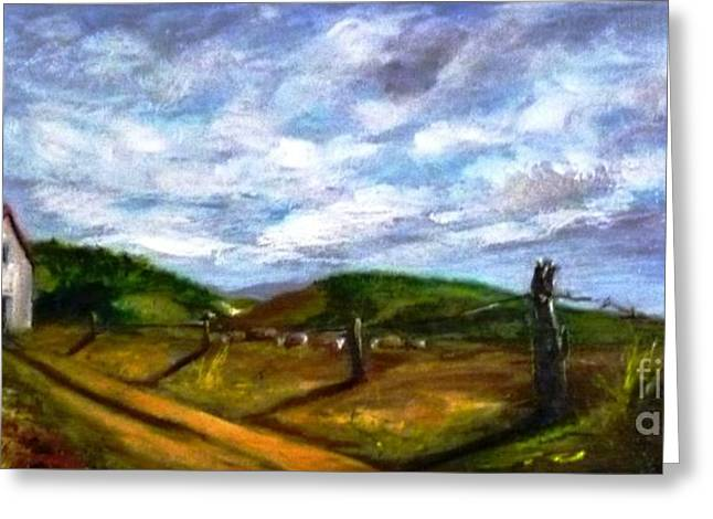 Greeting Card featuring the painting Tranquility - Original Sold by Therese Alcorn