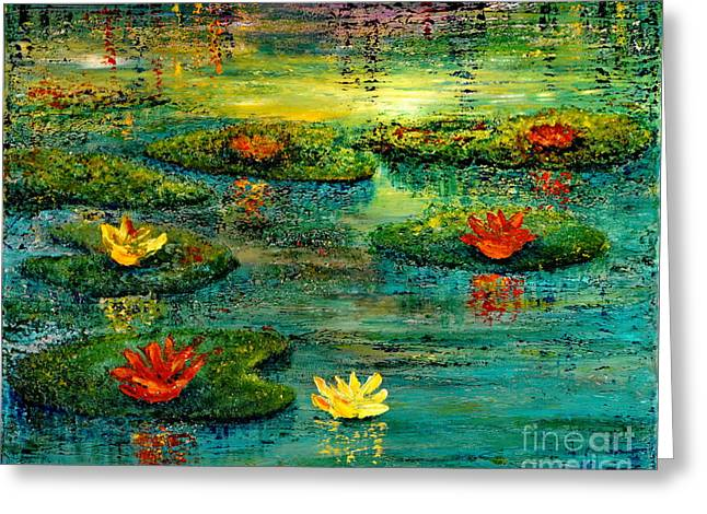 Tranquility Greeting Card by Teresa Wegrzyn