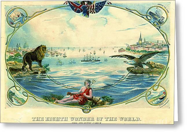 Trans-atlantic Cable 1866 Greeting Card
