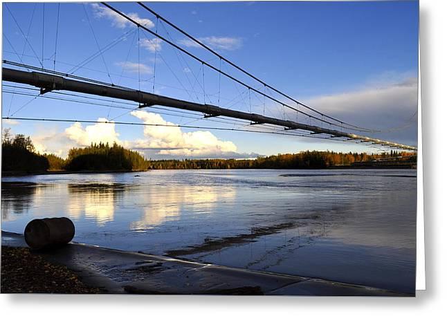 Greeting Card featuring the photograph Transalaska Pipeline Bridge by Cathy Mahnke
