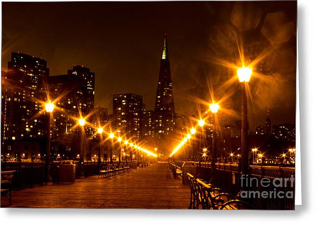 Transamerica Pyramid From Pier Greeting Card