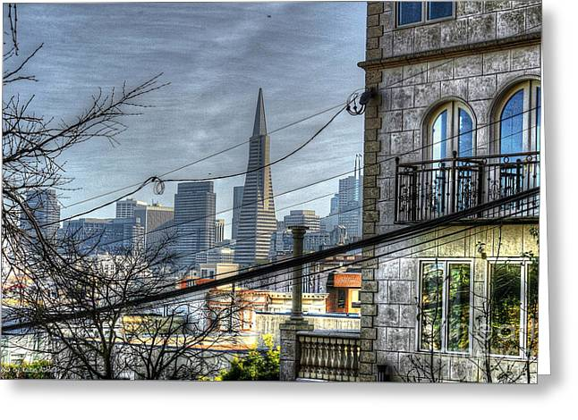 Transamerica View Greeting Card by Kevin Ashley