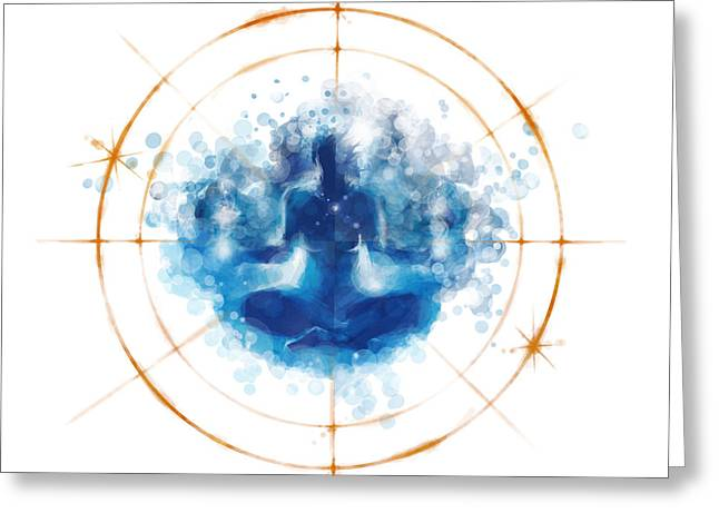 Transcendence II Greeting Card by Vincent Carrozza