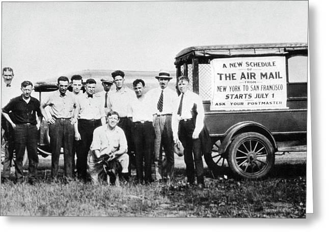 Transcontinental Air Mail Greeting Card