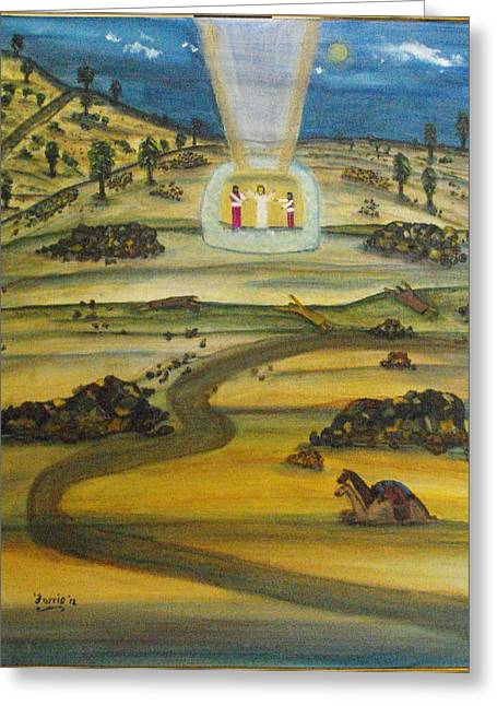 Transfiguration Of Jesus Greeting Card by Larry Farris