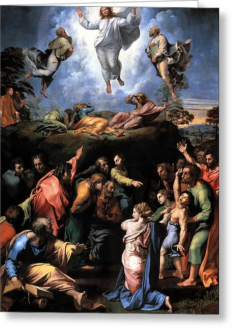 Transfiguration Reproduction Art Work Greeting Card by Raphael