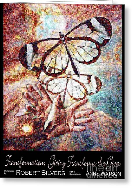 Transformation   Giving Transforms The Giver Greeting Card by Anne Watson