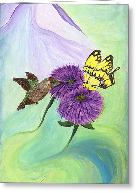 Transformed Greeting Card by Phoenix The Moody Artist
