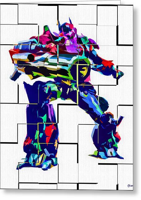 Transformers Optimus Prime Greeting Card by Daniel Janda