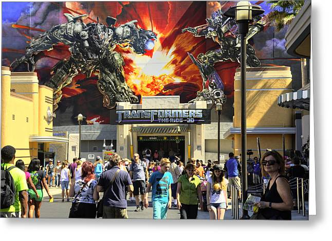 Transformers The Ride Greeting Card by Ricky Barnard
