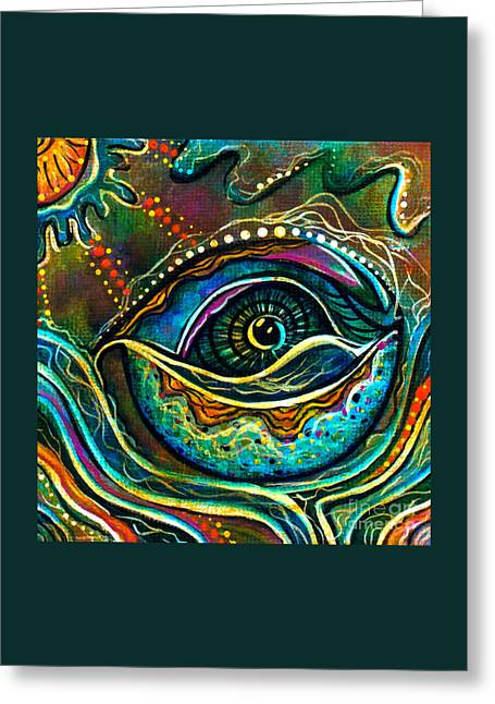 Transitional Spirit Eye Greeting Card