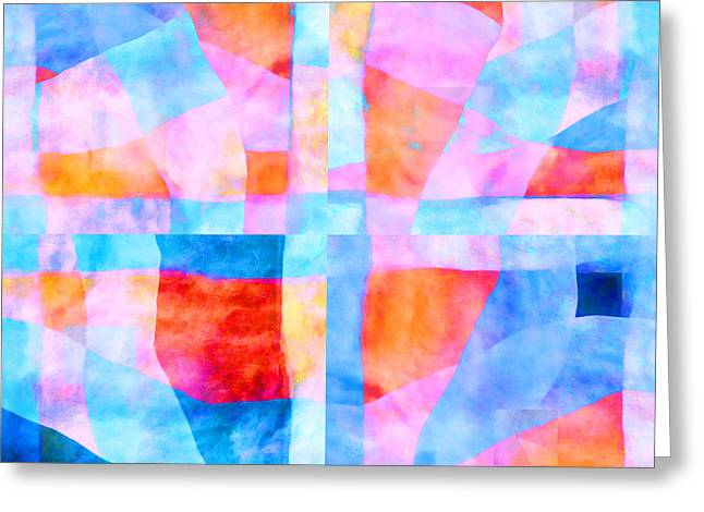 Translucent Quilt Greeting Card by Carol Leigh