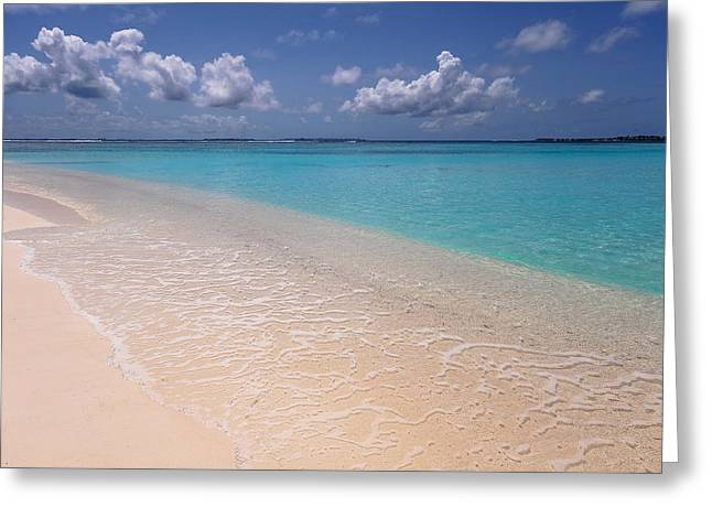 Transparency And Serenity. Maldives Greeting Card