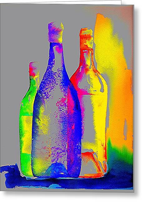Transparent Bottles Greeting Card