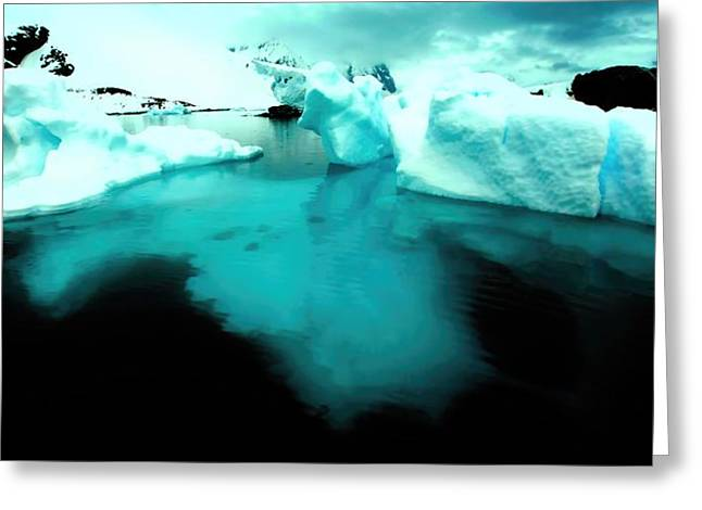Greeting Card featuring the photograph Transparent Iceberg by Amanda Stadther