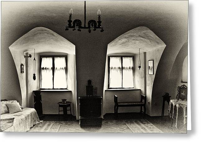 Transylvania Dracula's Castle Interior168 Greeting Card by Dorin Stef