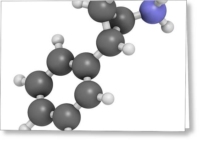 Tranylcypromine Antidepressant Drug Greeting Card by Molekuul