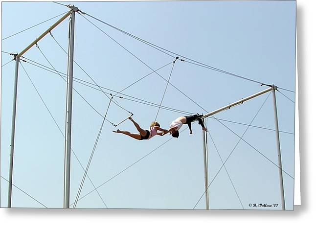 Trapeze School Greeting Card by Brian Wallace