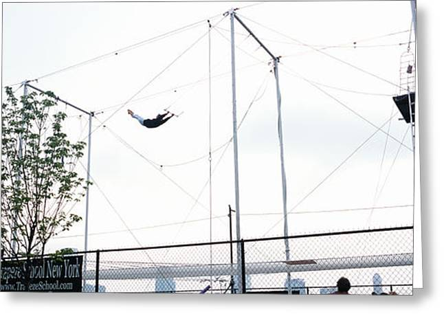 Trapeze School New York, Hudson River Greeting Card by Panoramic Images