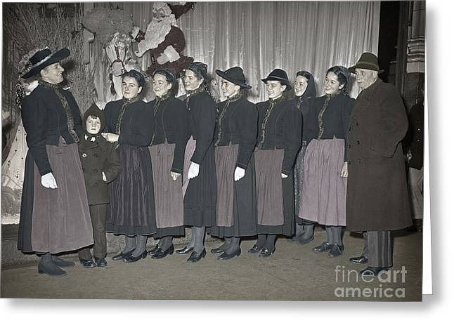 Trapp Family Singers 1945 Greeting Card by Martin Konopacki Restoration