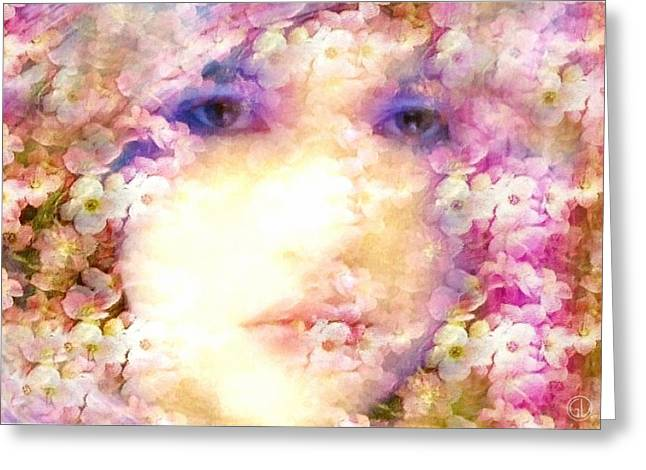 Trapped In Beauty Greeting Card by Gun Legler