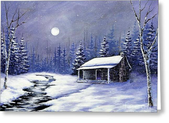 Trapper's Cabin Greeting Card by Jerry Walker