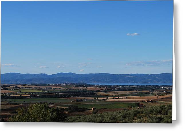 Trasimeno Viewpoint Greeting Card by Dorothy Berry-Lound