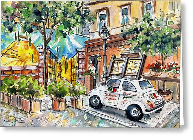 Trattoria Mamma In Budapest Greeting Card