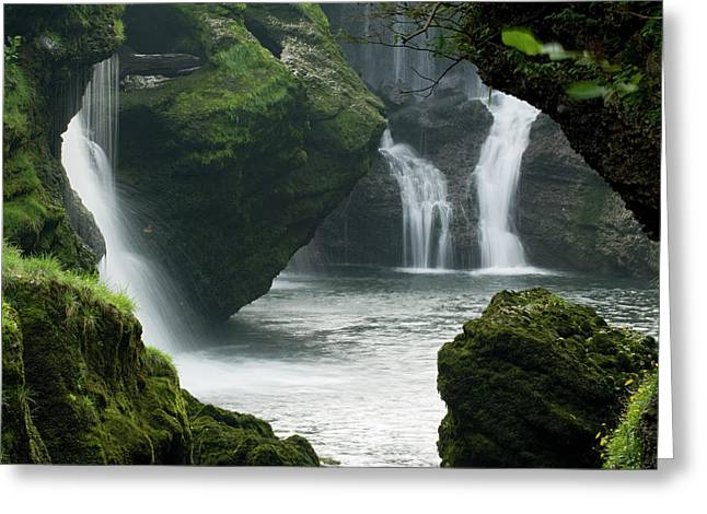 Traunfall Waterfall In Viecht Greeting Card by Thomas Aichinger