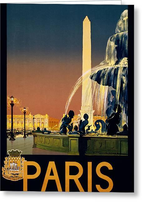 Travel Paris Greeting Card by Georgia Fowler