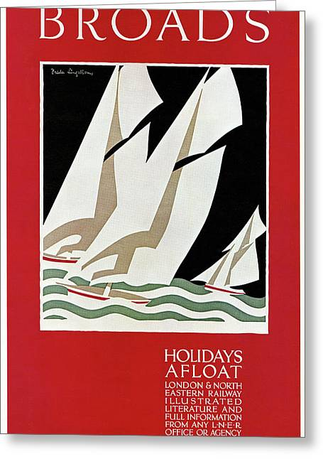 Travel Poster, 1926 Greeting Card by Granger