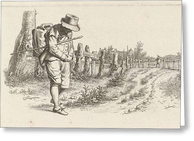 Traveler On A Country Road, Jacob Ernst Marcus Greeting Card by Artokoloro