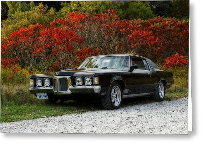 Traveling In Style In The 1970 Pontiac Grand Prix Greeting Card