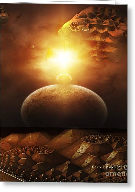 Greeting Card featuring the digital art Traveling Through Space by Melissa Messick