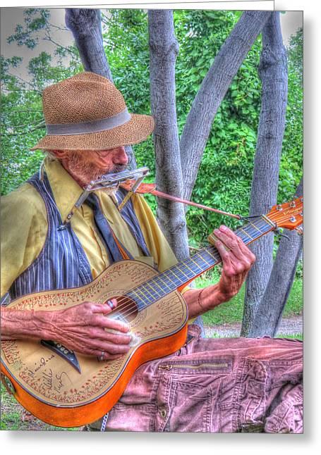 Traveling Troubadour Greeting Card by Putterhug  Studio