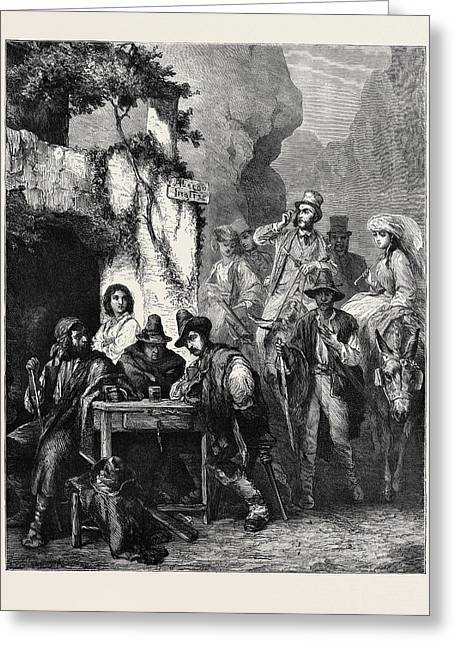 Travellers And Brigands Greeting Card by English School