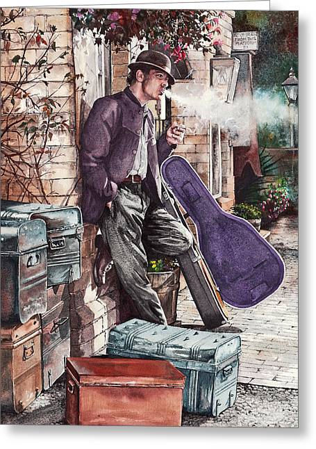 Travelling Man Greeting Card
