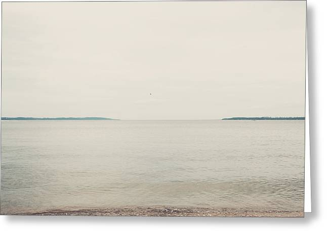 Traverse Bay Greeting Card by Elle Moss