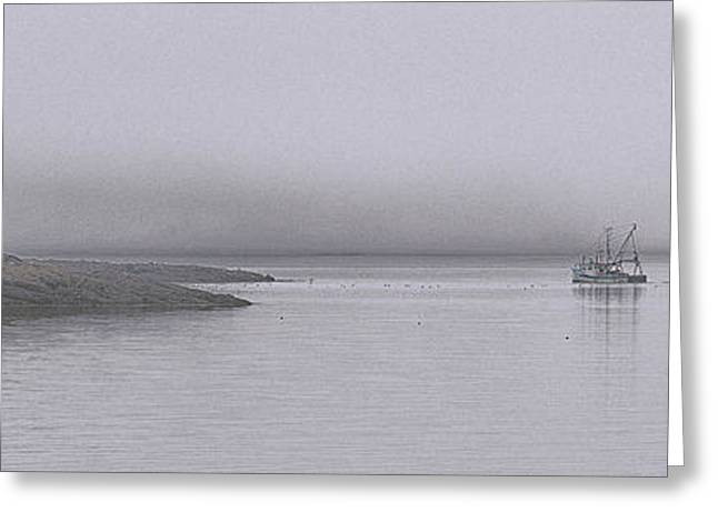 Trawler In Fog Greeting Card