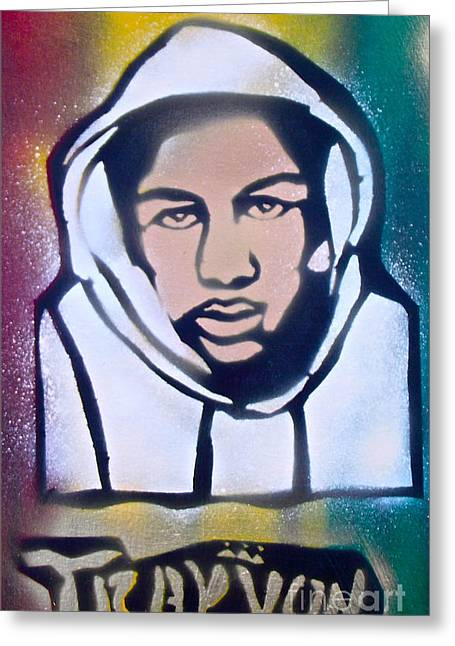 Trayvon Rasta Greeting Card by Tony B Conscious