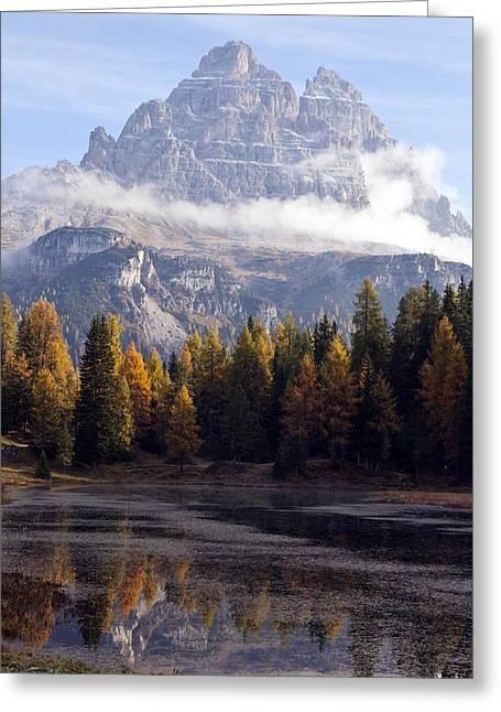 Tre Cime Di Lavaredo Peaks, Dolomites Greeting Card by Science Photo Library