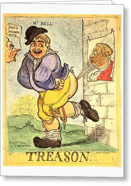 Treason, Newton, Richard, 1777 1798, Artist Greeting Card by English School