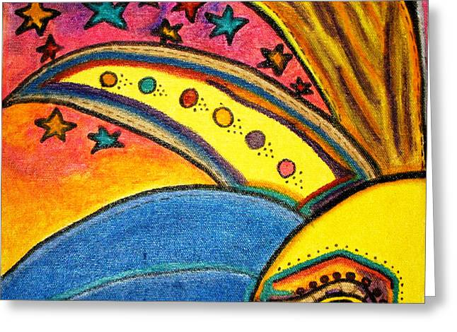 Treasure Hunt Art Puzzle Number 3 Carnival Greeting Card