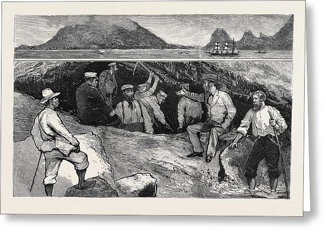 Treasure Seeking In The Haunts Of The Old Buccaneers Greeting Card by English School