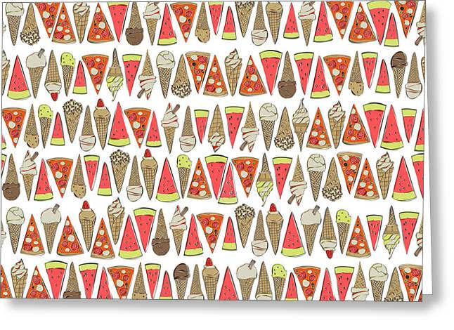 Treats White Greeting Card by Sharon Turner
