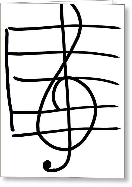Treble Clef Greeting Card by Jada Johnson