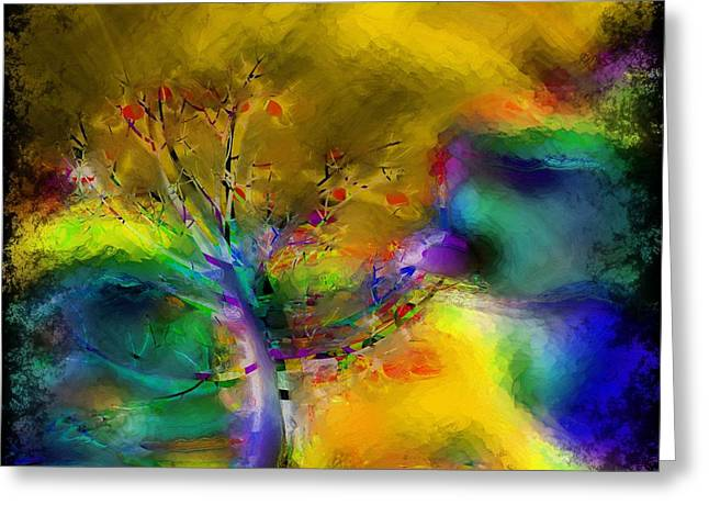 Tree Abstract - Bold Is Beautiful Greeting Card by Liane Wright